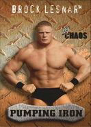 2004 WWE Chaos (Fleer) Brock Lesnar 86