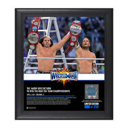 Hardy Boyz WrestleMania 33 15 x 17 Framed Plaque w Ring Canvas