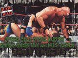2001 WWF RAW Is War (Fleer) Stone Cold Steve Austin vs. Edge & Christian & Kurt Angle (No.91)