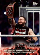 2018 WWE Road to Wrestlemania Trading Cards (Topps) Kevin Owens 12