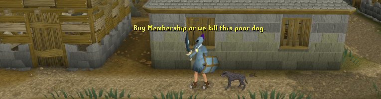 Buy Membership or we kill this poor dog