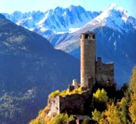 Mountain castle small
