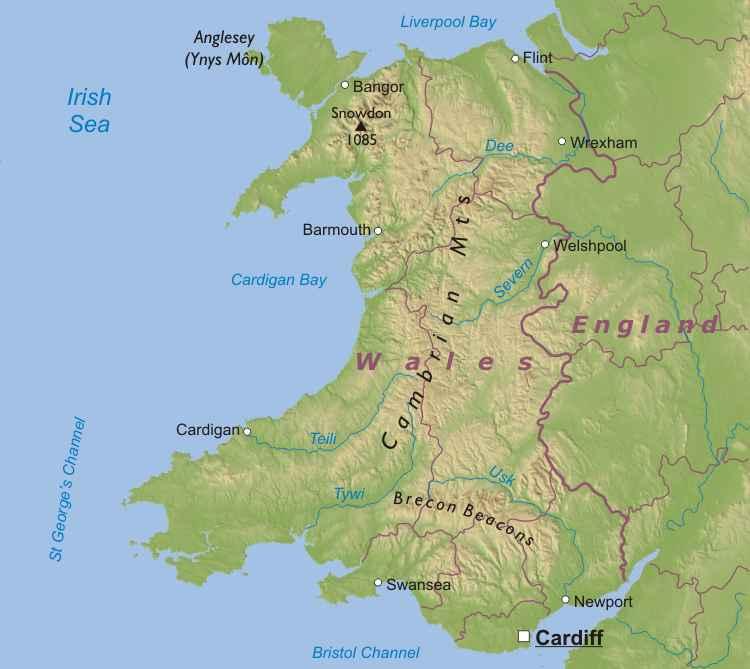 Image - Wales-map.jpg | Prydain Wiki | FANDOM powered by Wikia