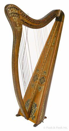 Harp with brokem strings