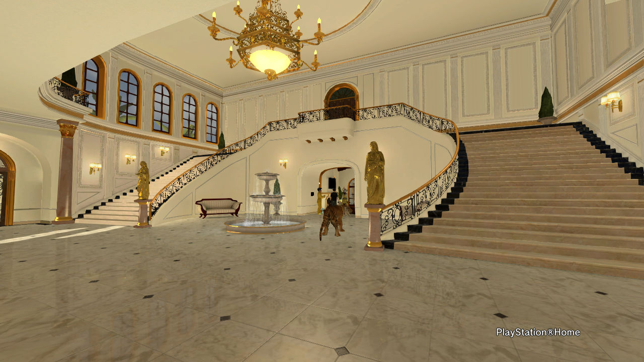 Playstation Home Mansion First Floor Playstation Home