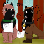Johnboy and Sabra singing carols december challenge day 26