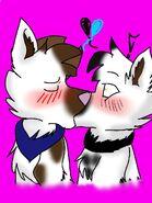 Flurr and Janny kiss