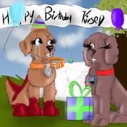 Kirse and Tatia celebrating Kirse s birthday Merpupfire s birhtday special