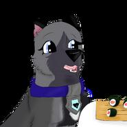 Eyra seeing sushi