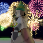 Margit celebrating New Year