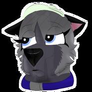 Eyra being sick sticker headshot