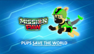 Mission Paw Pups save the world tittle