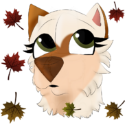 Kasha's headshot with falling leaves