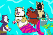 Victoria Gray Savannah and Mer-pup swimming for KeylaLPS by Chye, Marevest FOREVER