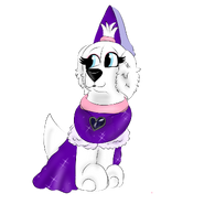 Lavia in a princess costume