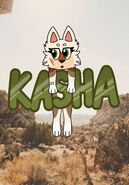 Kasha holding her name by Kama13