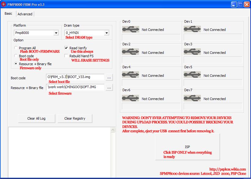 FRM Pro v3 3 - Firmware Flashing Tutorial | SPMP8000 PSPKOX Wiki