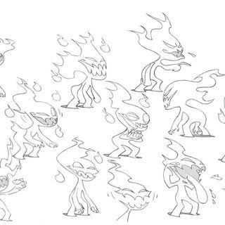 Lil Ghost's design sheet.