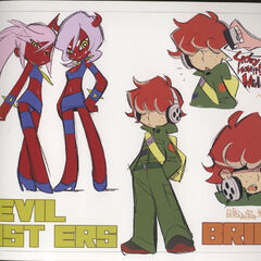 Demon Sisters & Brief's concept art.