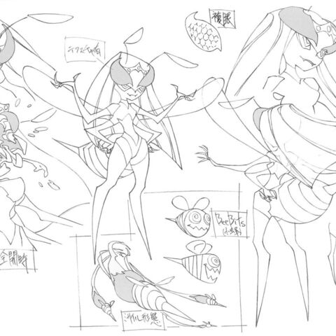 Ghost Barby's design sheet.
