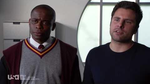 "Psych, Season 8 - ""Lock, Stock, Some Smoking Barrels and Burton Guster's Goblet of Fire,"""