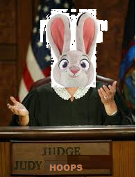 Judge Judy Hoops on court