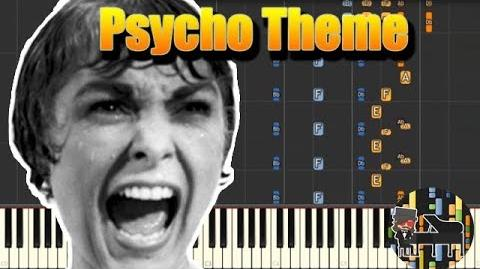 🎵 Psycho Theme - Psycho Piano Tutorial (Synthesia) HD Cover