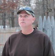 Psycho dad outside of jackies house