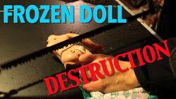 FrozenElsaSnowGlowDoll-Destruction