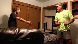 Psycho Dad Busts Down Door