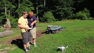 CRASHING A FAN'S DRONE!