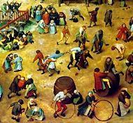 Pieter brueghel the elder-children playing-detail