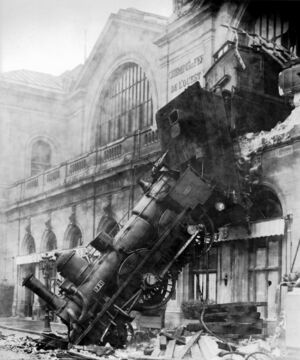 Train wreck at Montparnasse 1895