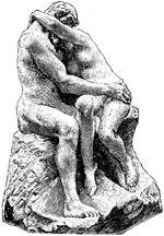 Bildhuggarkonst, Kyssen, af Rodin, Nordisk familjebok