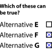 Multiple choice (testing method) | Psychology Wiki | FANDOM powered
