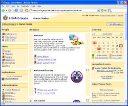 Moodle 1.3 sample course screengrab