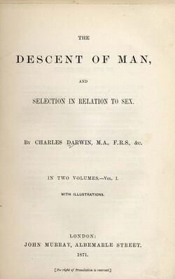 Darwin - Descent of Man (1871)