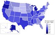 USA states unemployment 2004