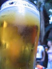 Glass of beer Australia Day 2005