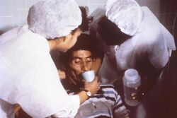 Cholera rehydration nurses