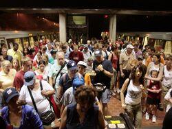 July 4 crowd at Vienna Metro station