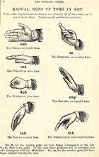 Curwen Hand Signs MT