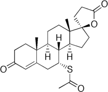 Spironolactone structure