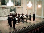 Mozarteum grosser saal buehne mit orchester