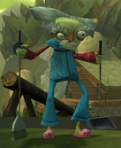 Cruller's janitor persona