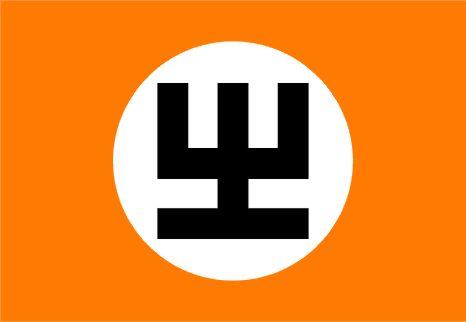 Ficheiro:PortoClaro bandeira partido FrePAO.jpg