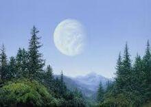 Endor visto da Lua