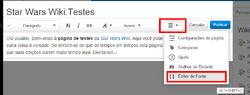 EditorVisual para editorFonte