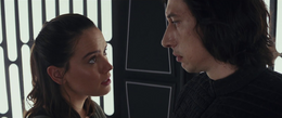 Rey and Ben Solo