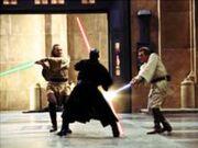 Maul confronta os doi Jedi